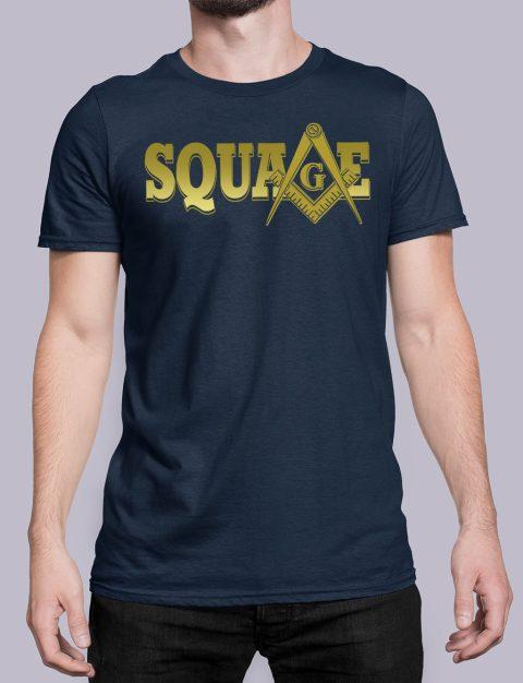 Square Masonic T-Shirt square navy shirt 34