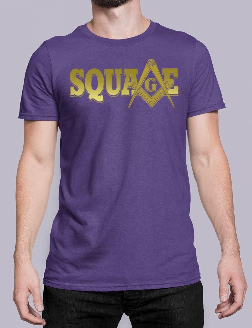 square purple shirt 34