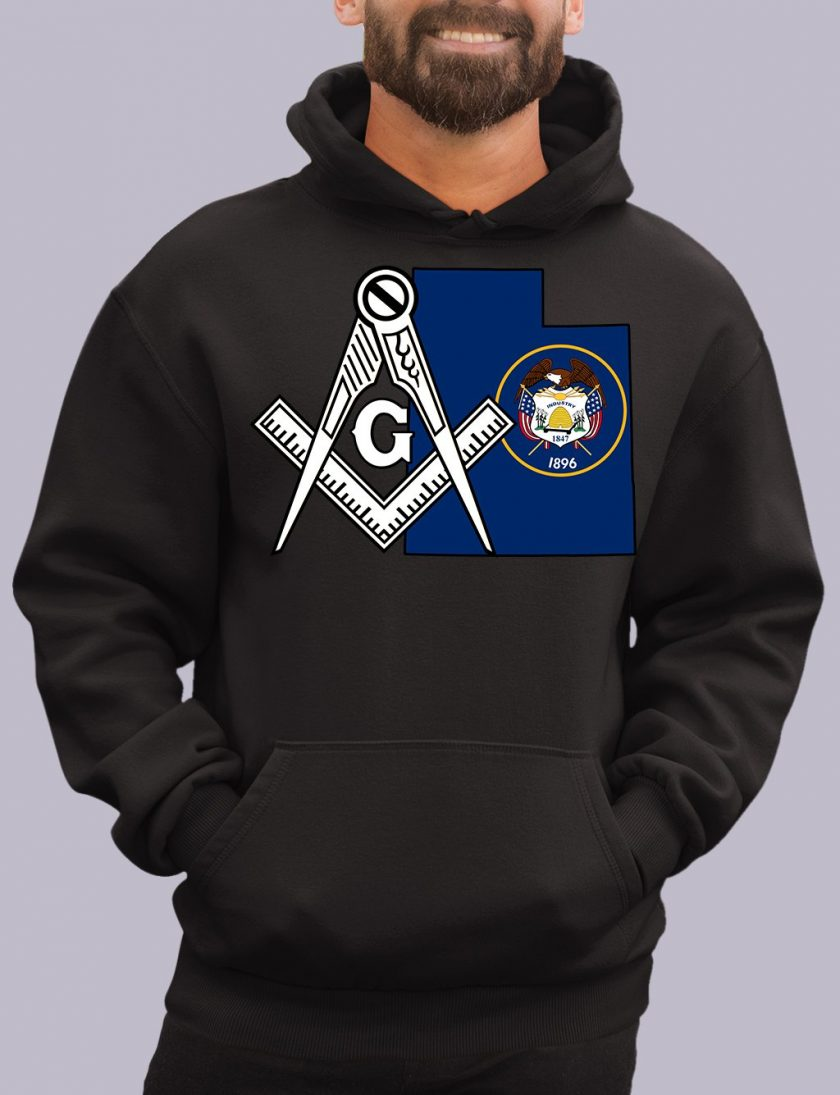 utah black hoodie
