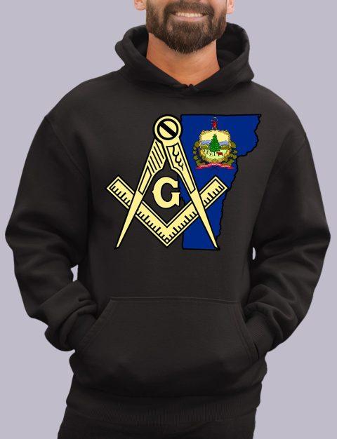 Vermont Masonic Hoodie vermont black hoodie
