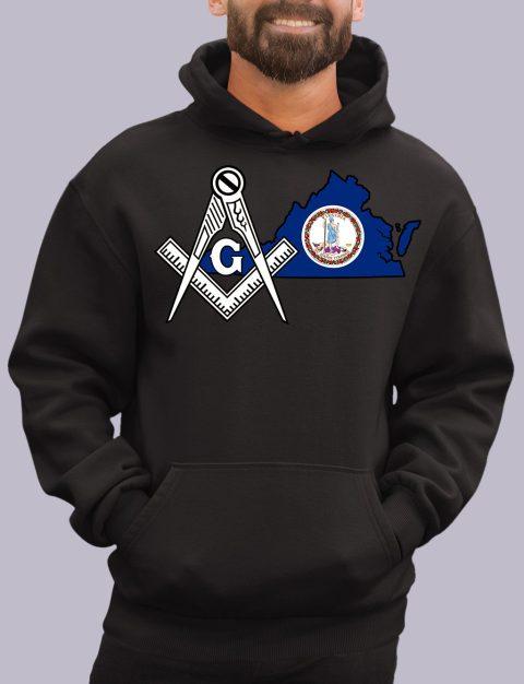 Virginia Masonic Hoodie virgina black hoodie