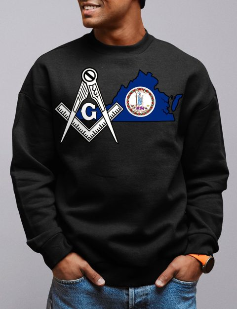 Virginia Masonic Sweatshirt virgina black sweatshirt