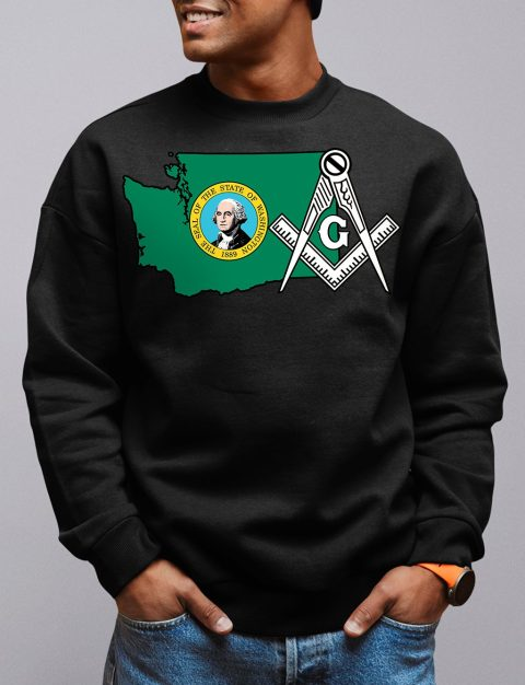 Washington Masonic Sweatshirt washington black sweatshirt