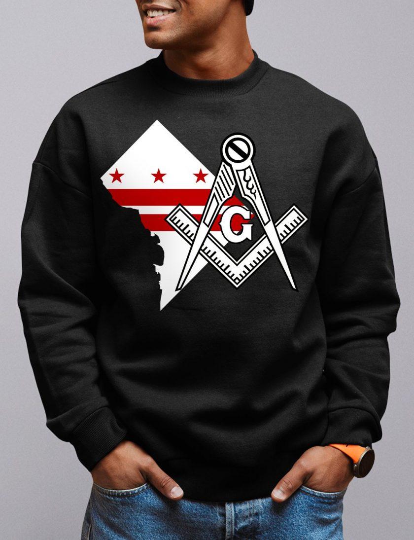 Washington DC Masonic Sweatshirt washington dc black sweatshirt