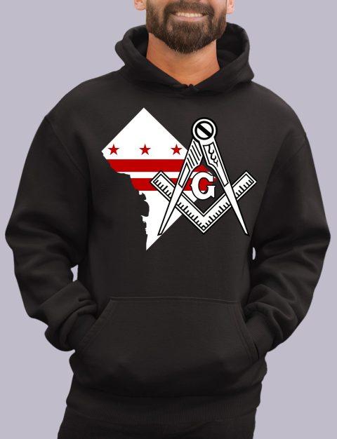 Washington DC Masonic Hoodie washinton dc black hoodie