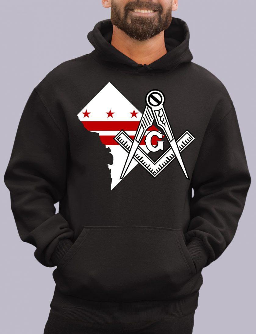 washinton dc black hoodie