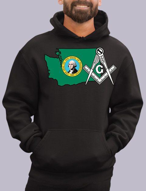 Washington Masonic Hoodie washiongton black hoodie