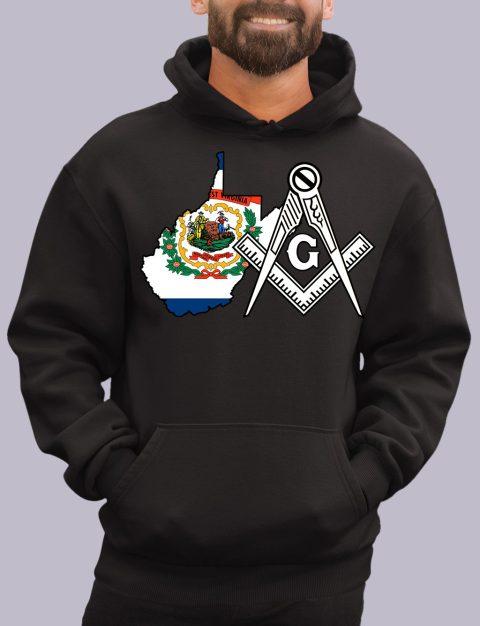 West Virginia Masonic Hoodie west virginia black hoodie