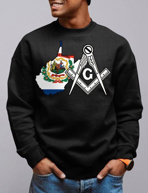 West Virginia Masonic Sweatshirt west virginia black sweatshirt