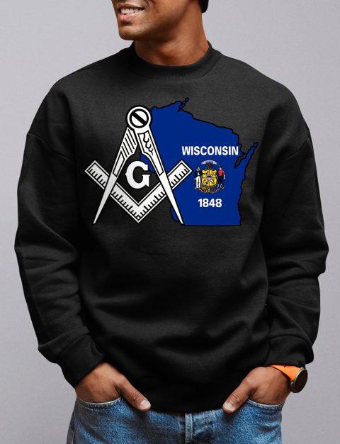 Wisconsin Masonic Sweatshirt wisconsin black sweatshirt