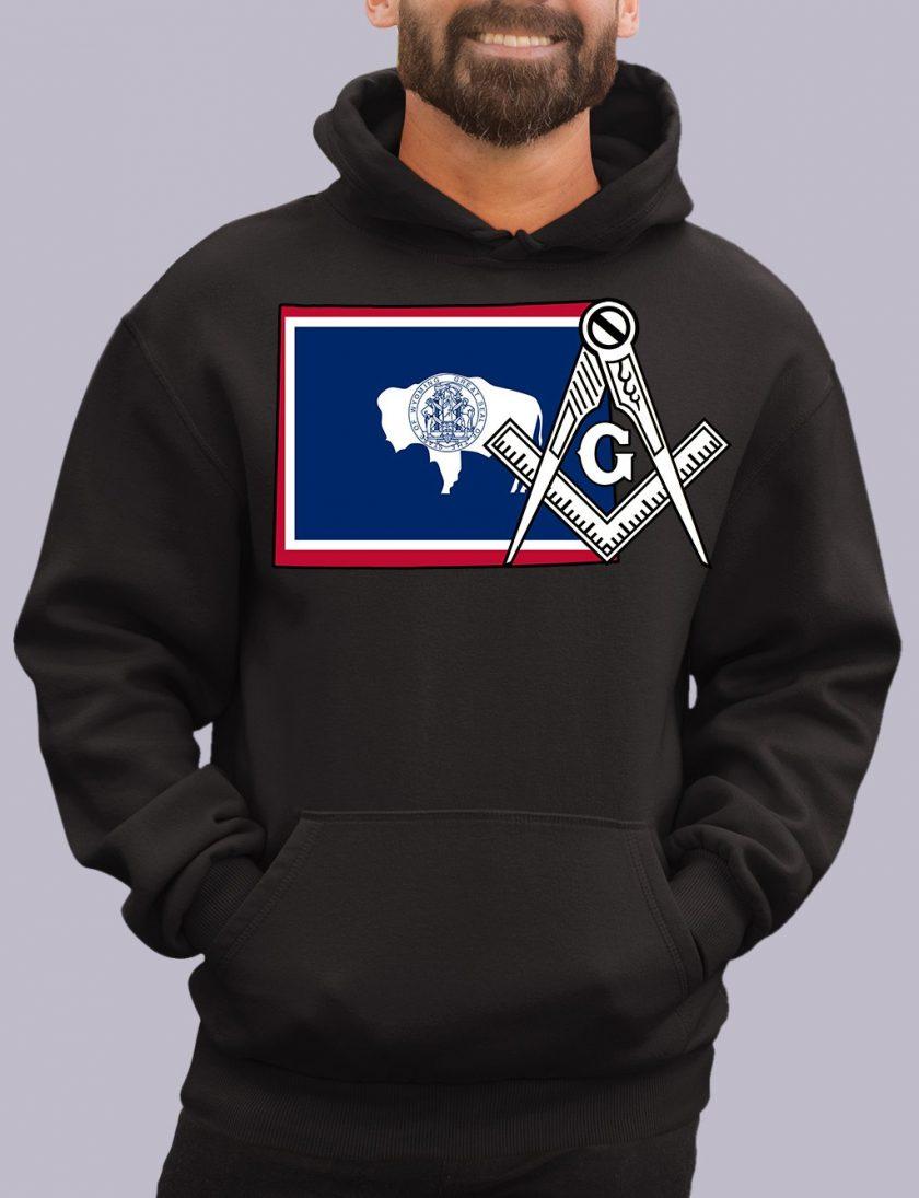 wyoming black hoodie