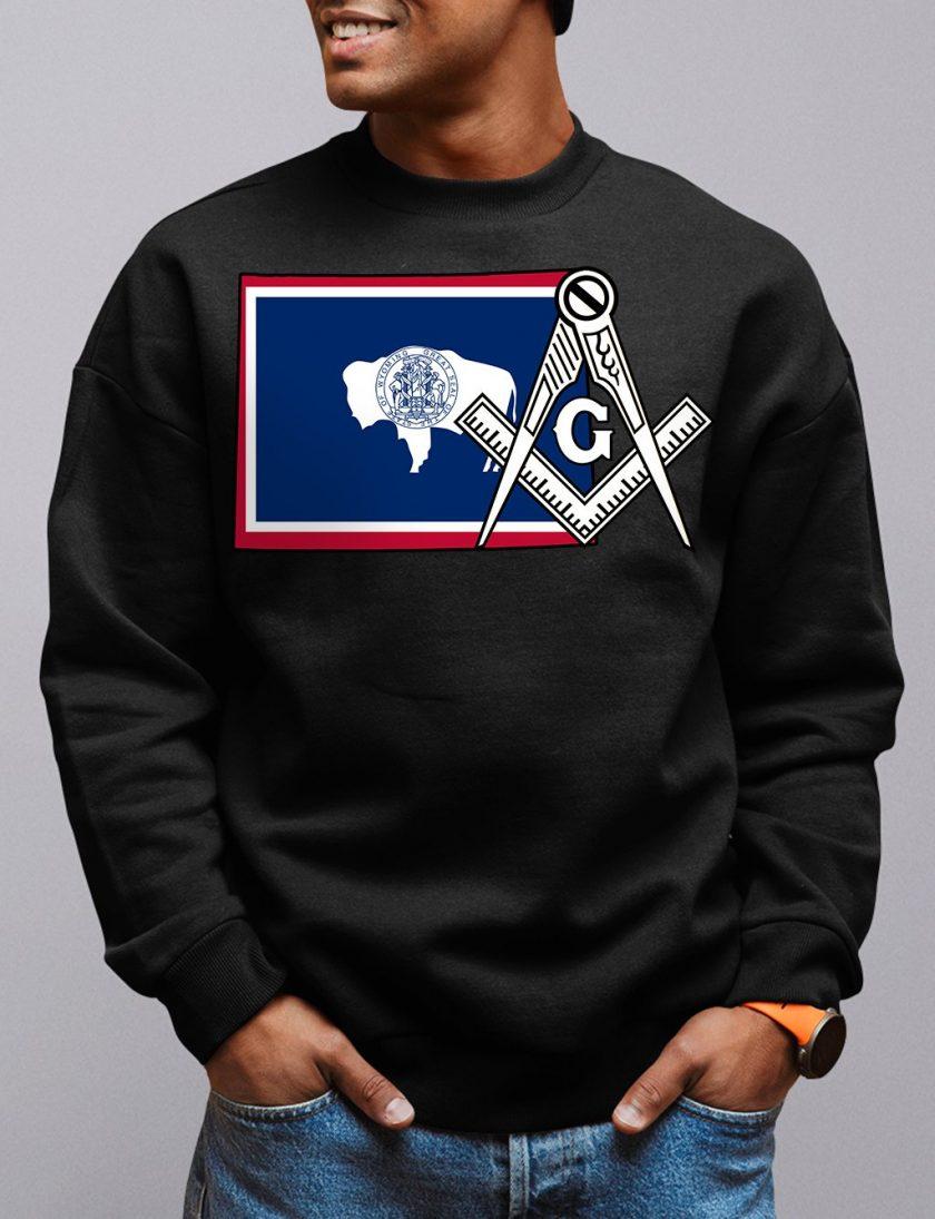 wyoming black sweatshirt