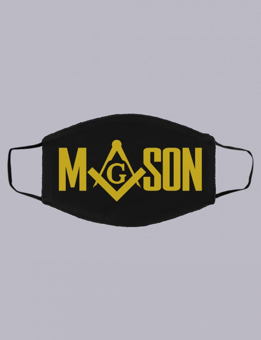 Mason Masonic Face mask balck