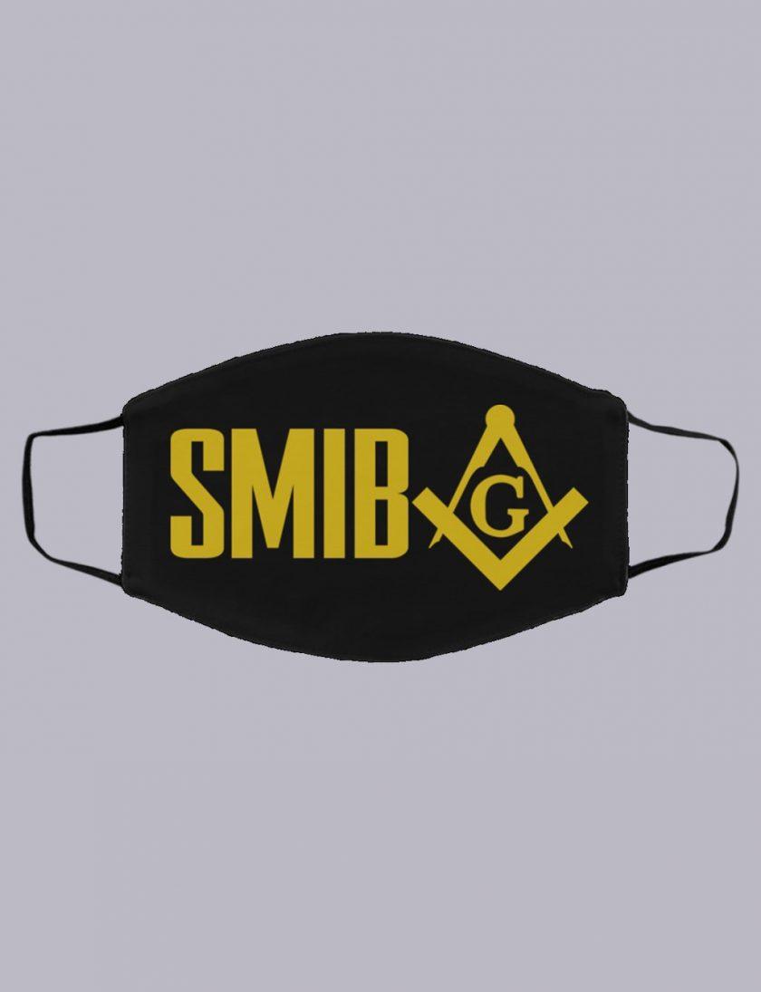 SMIB freemasonry symbol masonic face mask black