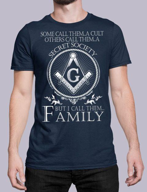 I Call Them Family Masonic T-Shirt call family navy shirt