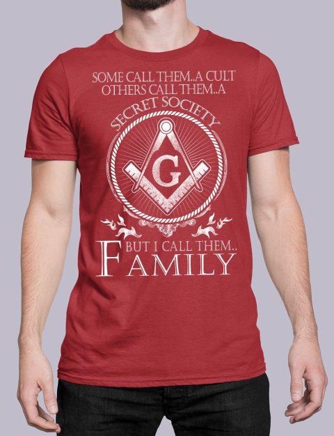 I Call Them Family Masonic T-Shirt call family red shirt