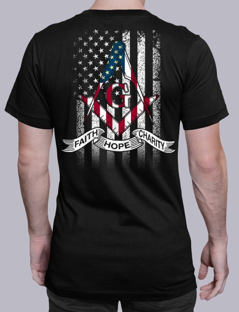 Faith Hope Charity American Flag T-Shirt faith black shirt