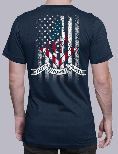 Faith Hope Charity American Flag T-Shirt faith navy shirt