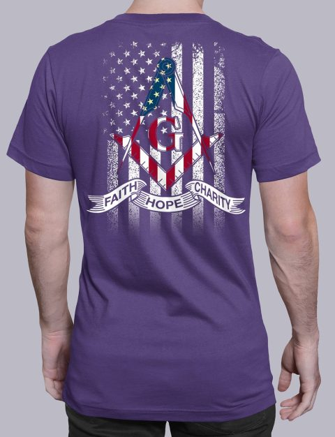 Faith Hope Charity American Flag T-Shirt faith purple shirt