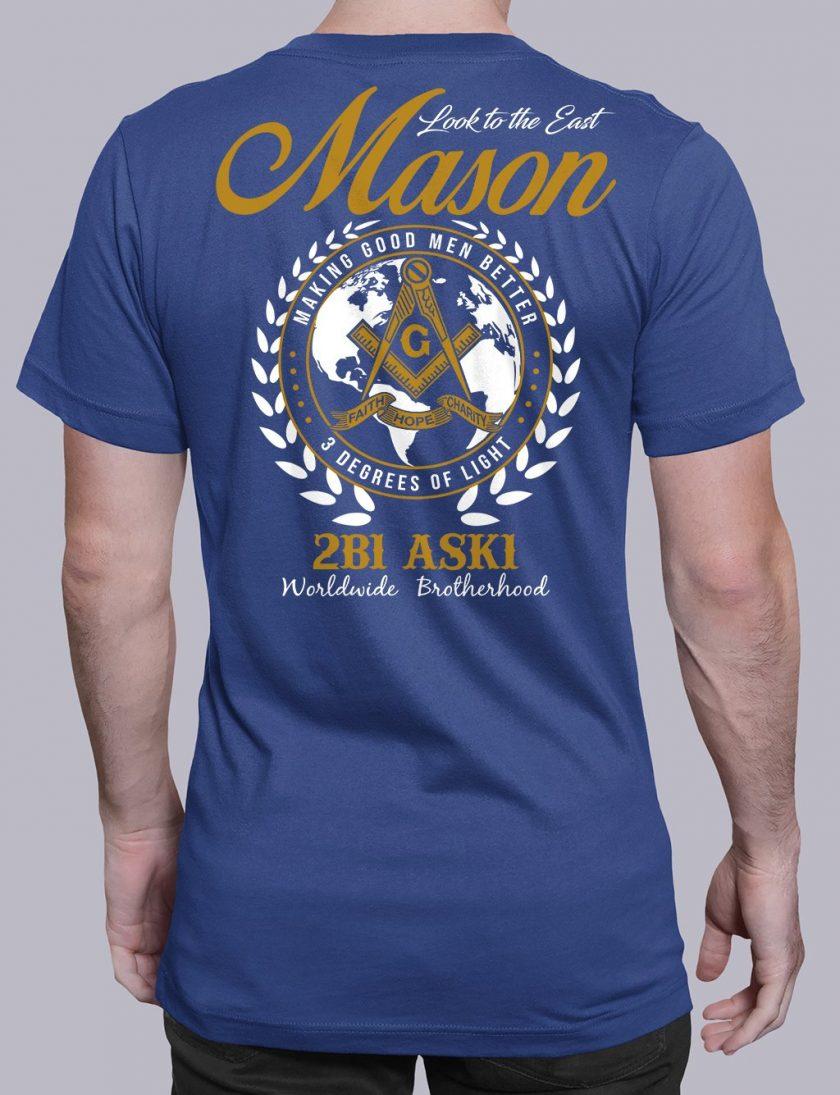 Mason Look To The East mason ltte blue shirt