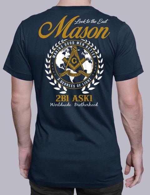 Mason Look To The East mason ltte navy shirt