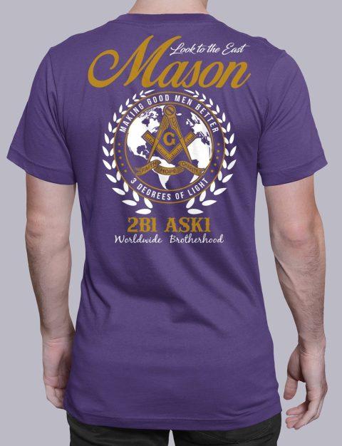 Mason Look To The East mason ltte purple shirt