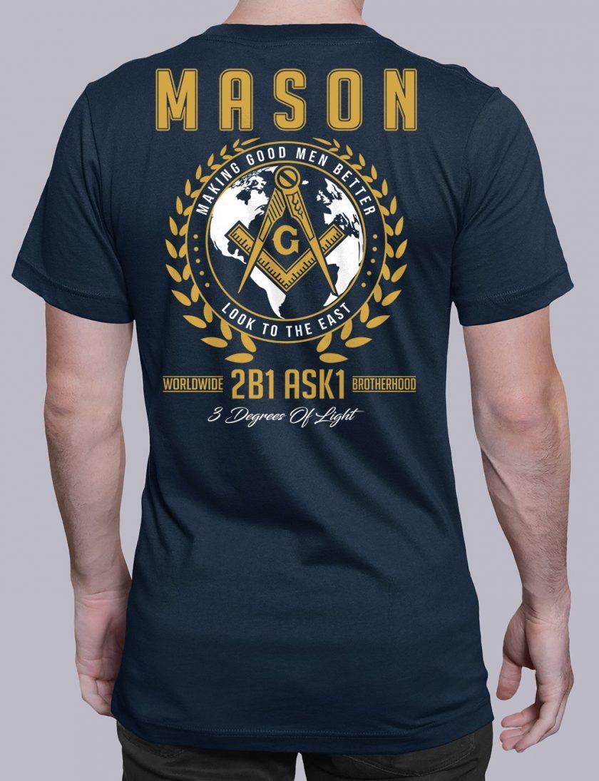 mason mgmb 2 navy shirt