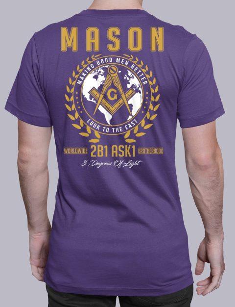 Mason 3 Degrees of Light 2B1 ASK1 Masonic T-Shirt mason mgmb 2 purple shirt