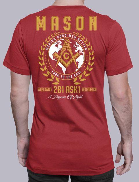 Mason 3 Degrees of Light 2B1 ASK1 Masonic T-Shirt mason mgmb 2 red shirt
