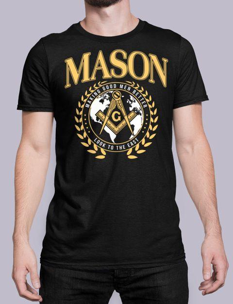 Mason Making Good Men Better Masonic T-Shirt mason mgmb black shirt