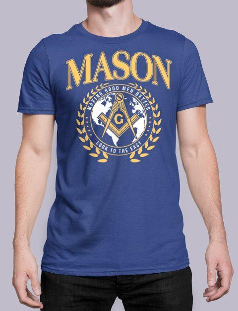 Mason Making Good Men Better Masonic T-Shirt mason mgmb blue shirt