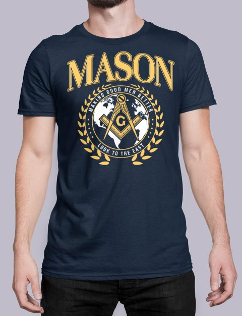 Mason Making Good Men Better Masonic T-Shirt mason mgmb navy shirt