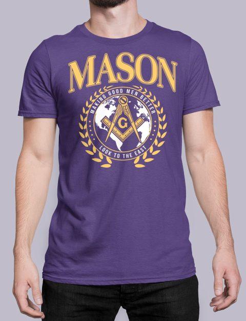 Mason Making Good Men Better Masonic T-Shirt mason mgmb purple shirt