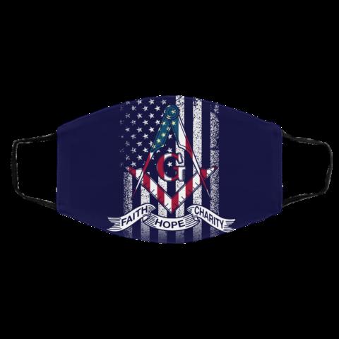 American Flag Faith Hope Charity Masonic Face Mask redirect 53