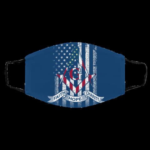 American Flag Faith Hope Charity Masonic Face Mask redirect 55