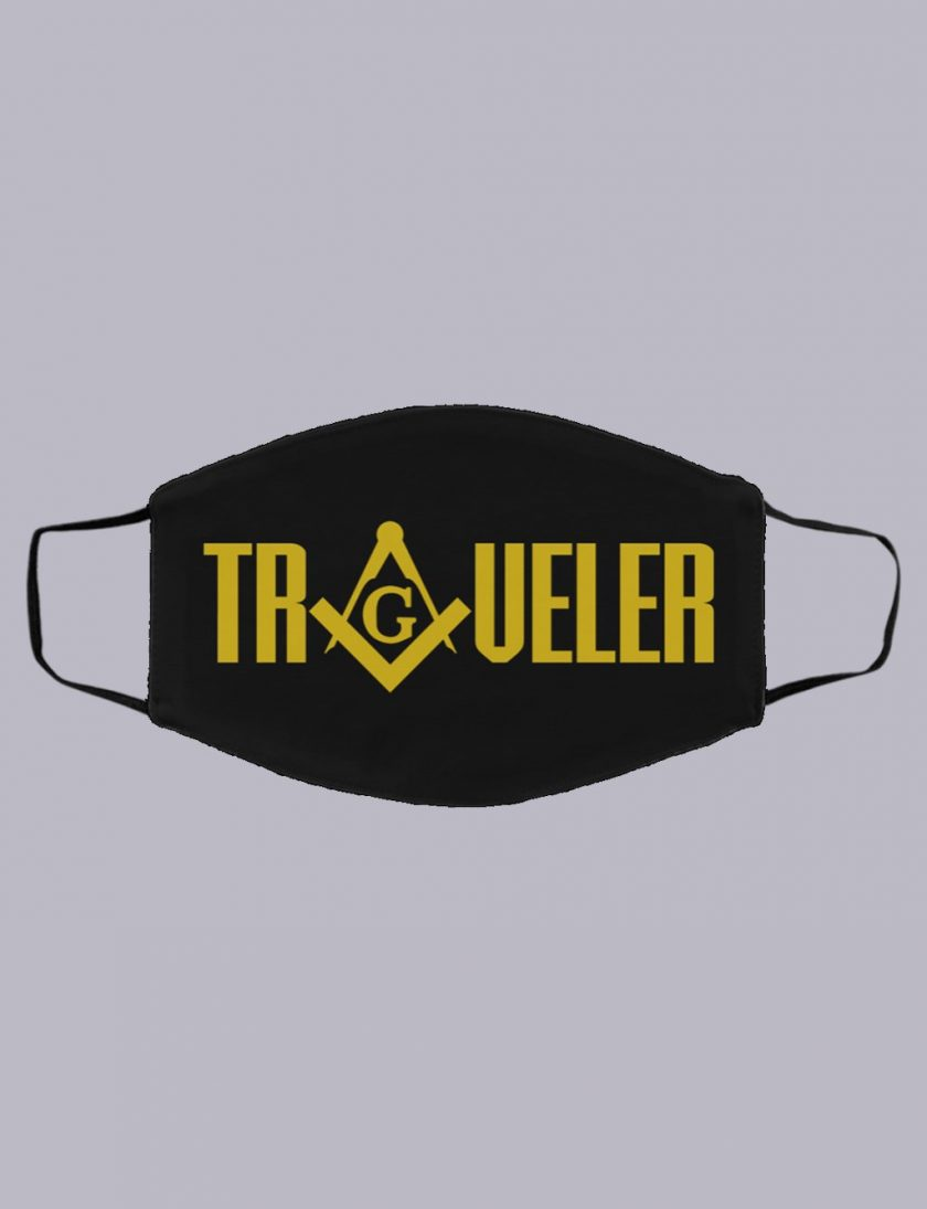 traveller masonic face mask black