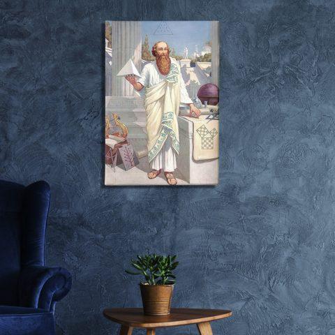 Pythagoras of Crotona Masonic Poster & Canvas Pythagoras of Crotona Masonic Canvas