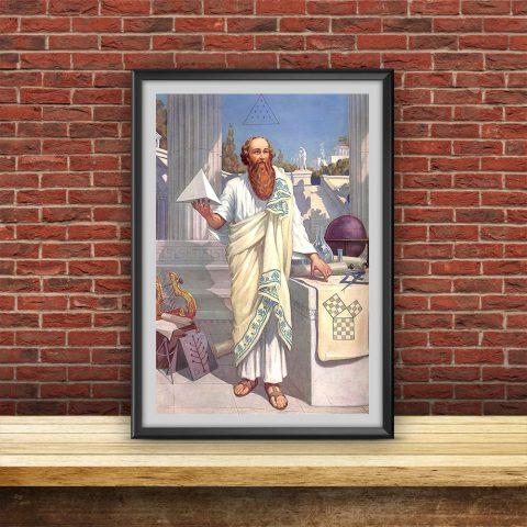 Pythagoras of Crotona Masonic Poster & Canvas Pythagoras of Crotona Masonic Poster 1