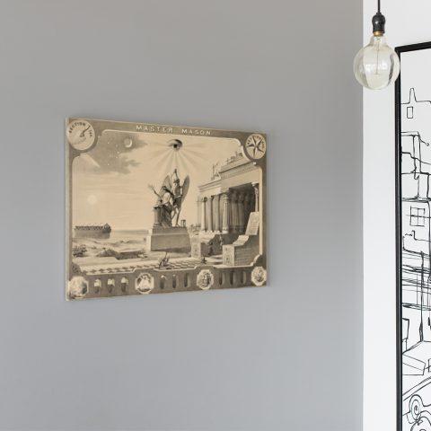 The Broken Column Masonic Poster & Canvas The Broken Column Masonic Canvas